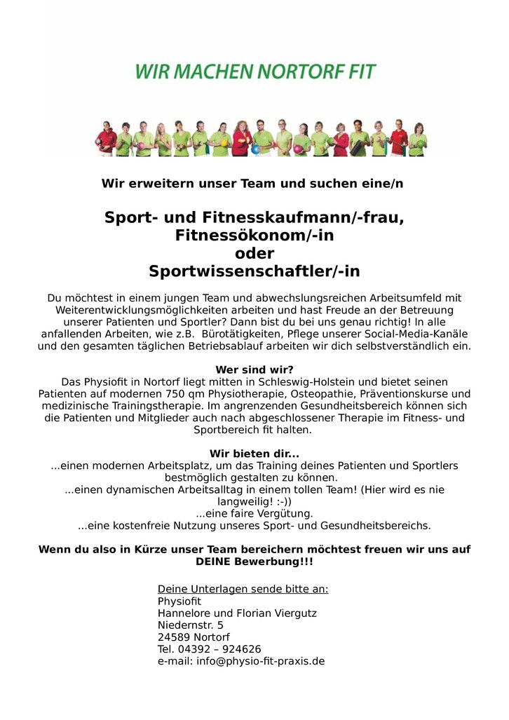 Physiofit Physio GmbH Karriere